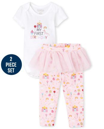 Baby Girls Birthday 2-Piece Set
