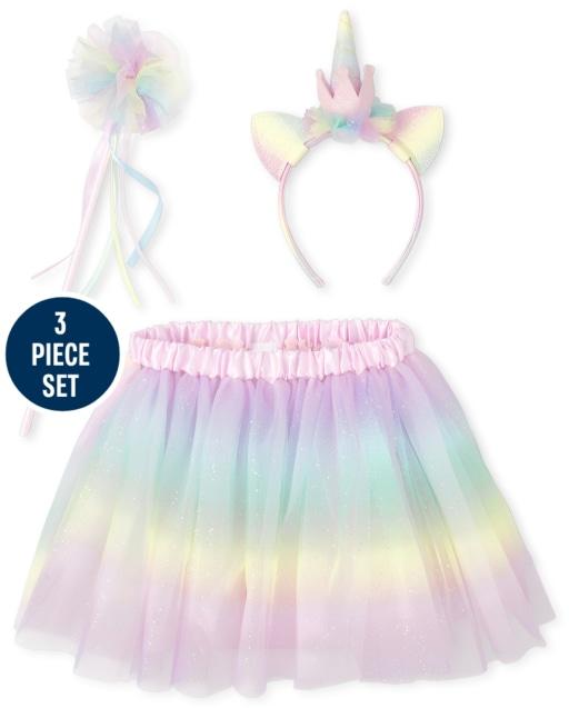 Girls Unicorn Costume Set