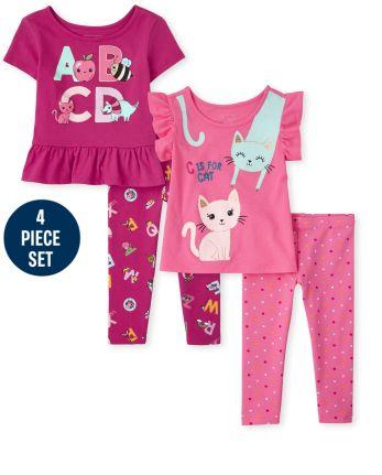 Toddler Girls Education Ruffle 4-Piece Set
