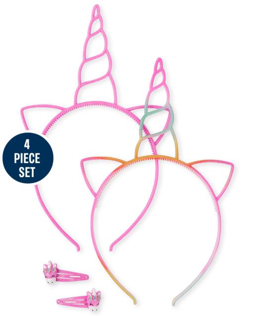 Girls Unicorn 4-Piece Hair Set