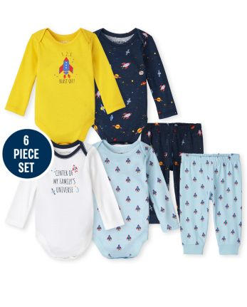 Baby Boys Mix And Match Space 6-Piece Set