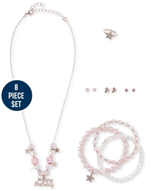 Girls Birthday 8-Piece Jewelry Set