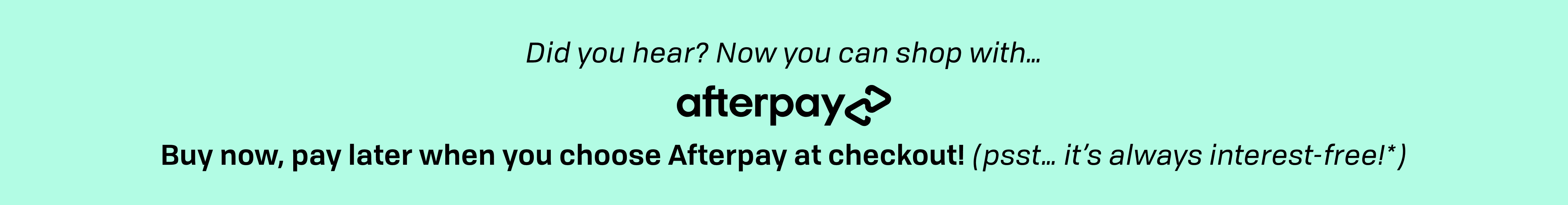After Pay Banner
