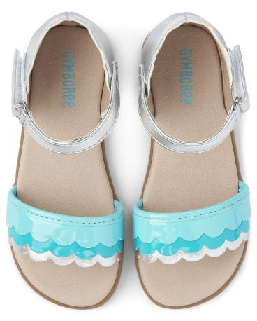 Girls Scalloped Metallic Sandals - Under The Sea