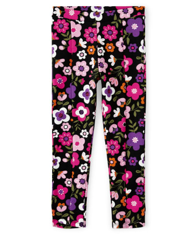 Girls Floral Ponte Jeggings - Tree House