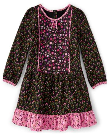 Girls Floral Ruffle Dress - Tree House