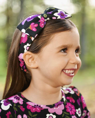 Girls Floral Bow Headwrap - Tree House