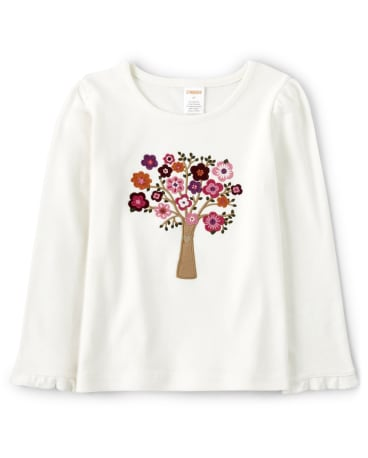 Girls Embroidered Tree Top - Tree House