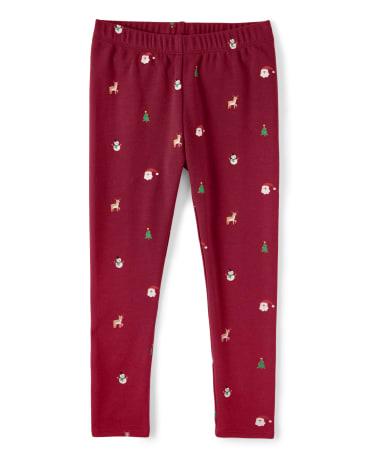 Girls Christmas Leggings - Ho Ho Ho