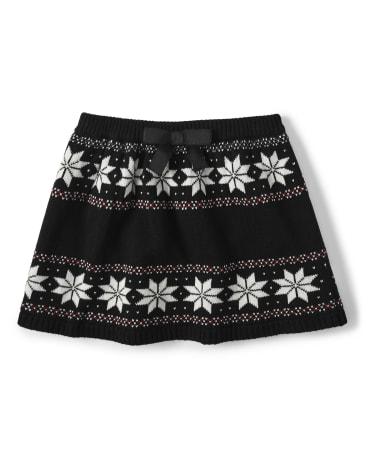 Girls Fairisle Sweater Skirt - Reindeer Cheer