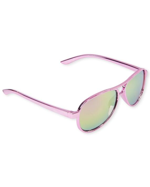 Childrens Place Toddler Girls Aviator Sunglasses