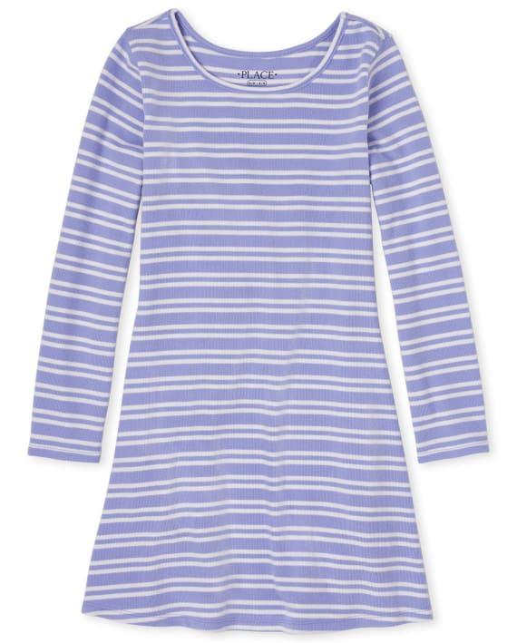 Girls Striped Lightweight Sweater Dress $5.99