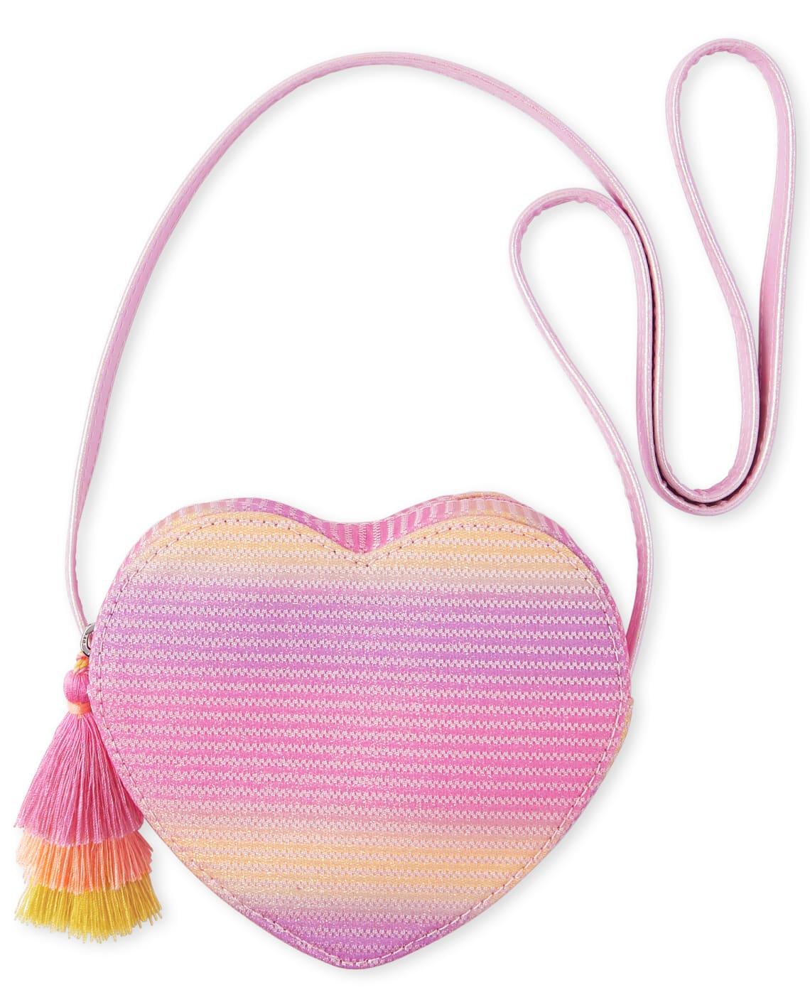 The Childrens Place Girls Glitter Heart Bag