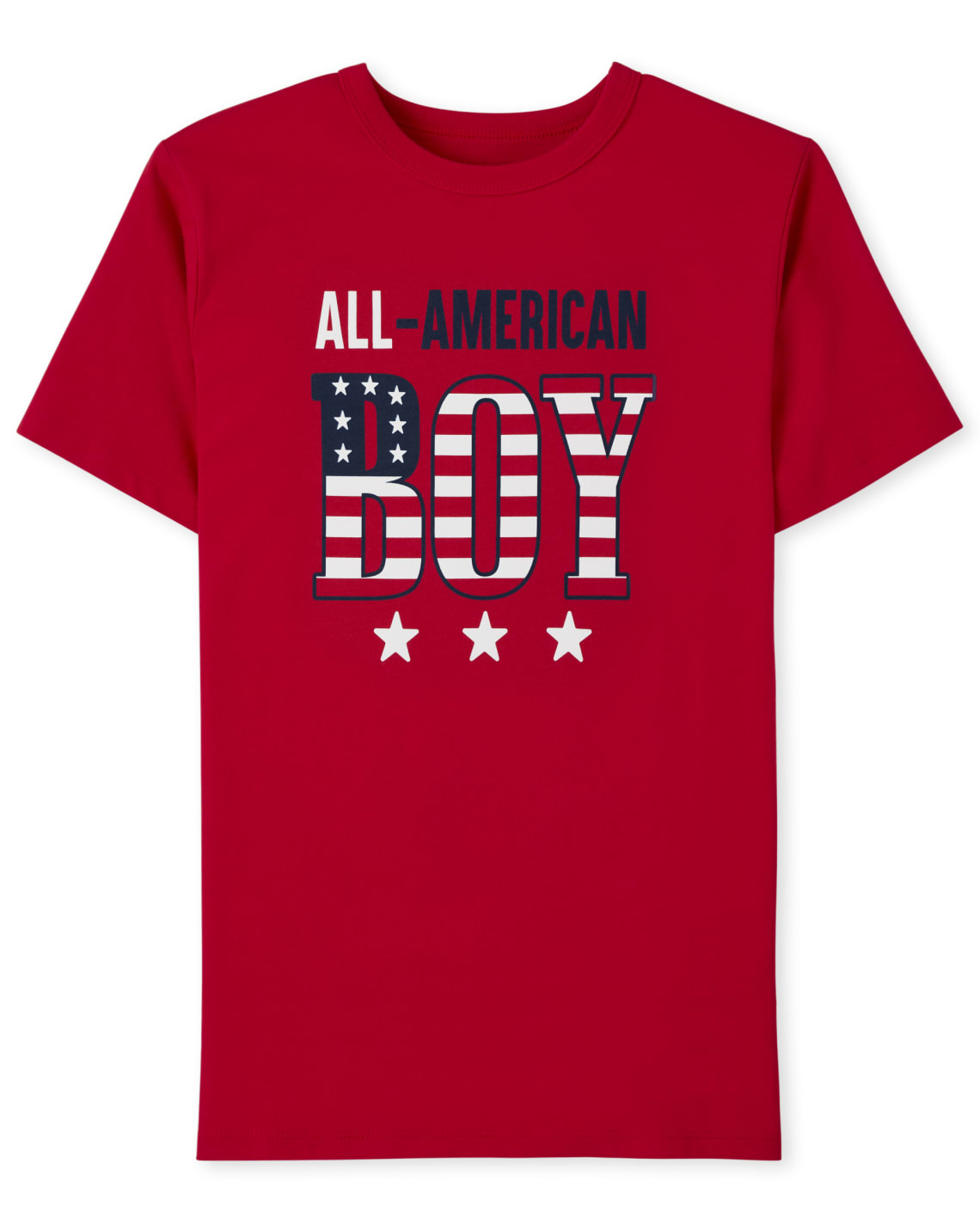 The Childrens Place Matching Family All American Graphic Boys Tee (RUBY)