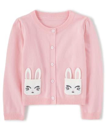 Girls Bunny Cardigan - Spring Jubilee