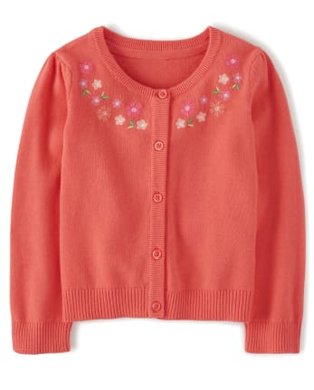 Girls Embroidered Cardigan - Fairy Blossom