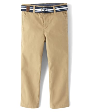Boys Belted Chino Pants - Spring Jubilee