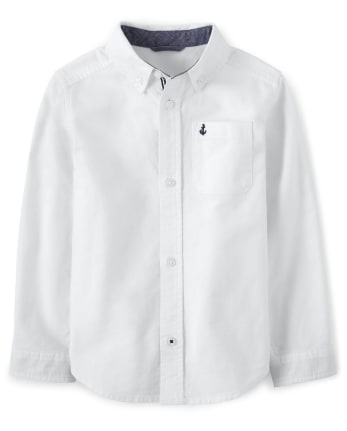 Boys Oxford Button Up Shirt - Spring Jubilee