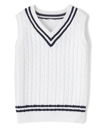 Boys Cable Knit Sweater Vest - Spring Jubilee