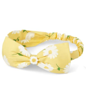 Girls Floral Headwrap - Sunny Daisies