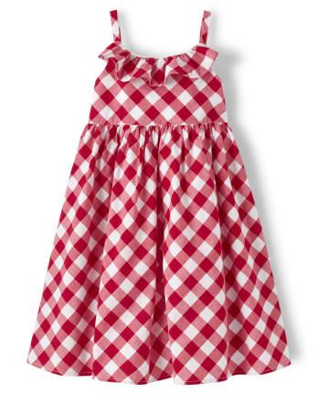 Girls Gingham Dress - American Cutie