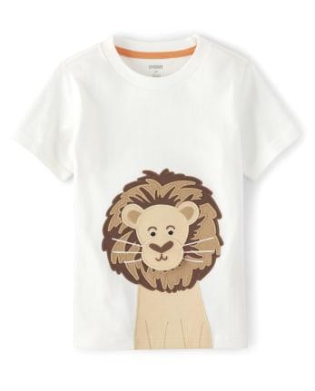 Boys Peek-A-Boo Lion Top - Summer Safari