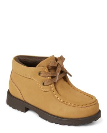 Boys Faux Suede Boots - Harvest