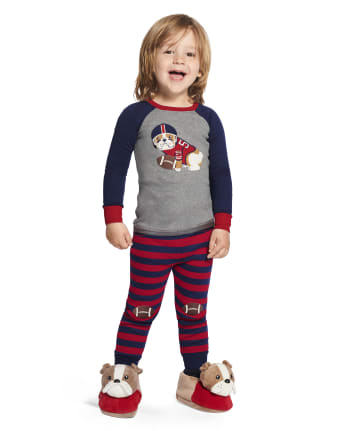 Boys Preppy Puppy Cotton 2-Piece Pajamas - Gymmies