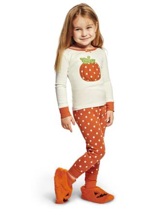 Girls Lil' Pumpkin Cotton 2-Piece Pajamas - Gymmies