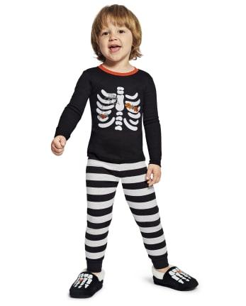 Boys Matching Family Skeleton Cotton 2-Piece Pajamas - Gymmies