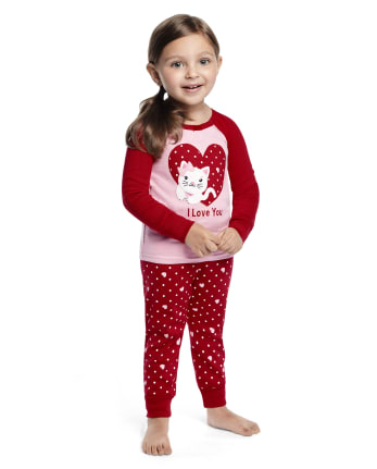 Girls Valentine's Cutie Cotton 2-Piece Pajamas - Gymmies