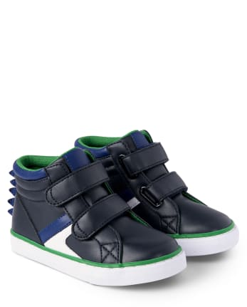Boys Dino Hi Top Sneakers - Dino Roar