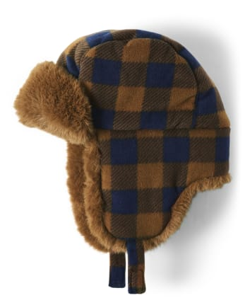 Boys Plaid Trapper Hat - Aspen Lodge