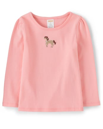 Girls Embroidered Pony Top - Every Day Play