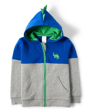 Boys Spike Zip Up Hoodie - Hello Dino