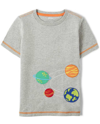 Unisex Embroidered Solar System Top - Future Astronaut