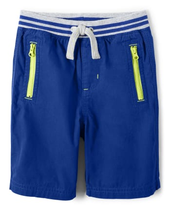 Boys Pull On Zipper Shorts - Future Astronaut