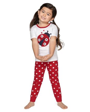 Girls Little Ladybug Cotton 2-Piece Pajamas - Gymmies