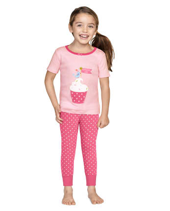 Girls Birthday Boutique Cotton 2-Piece Pajamas - Gymmies