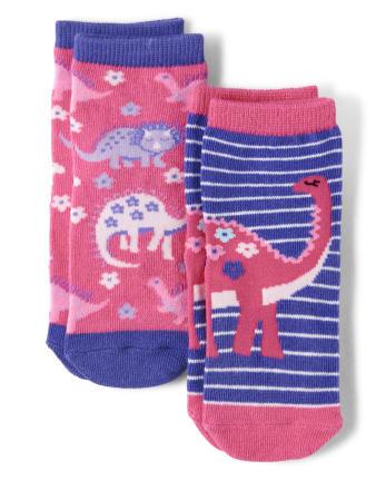 Girls Midi Socks 2-Pack - Hello Dino