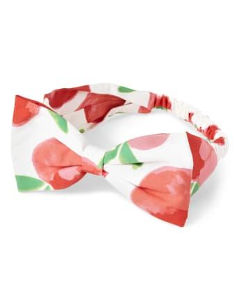 Girls Bow Headwrap - Pretty Peach