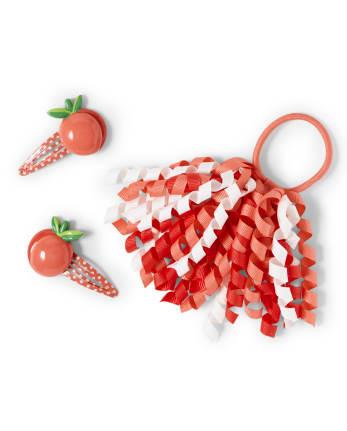 Girls Hair Set - Pretty Peach