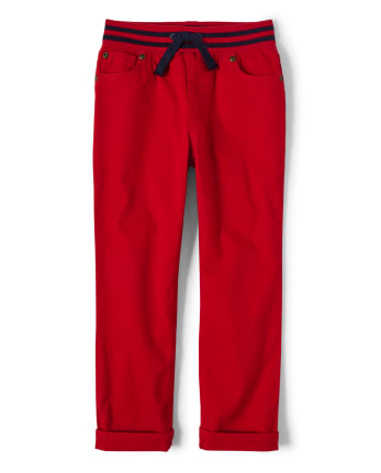 Boys Pull On Roll Cuff Pants - All Aboard