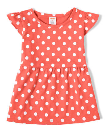 Girls Polka Dot Top - Pretty Peach