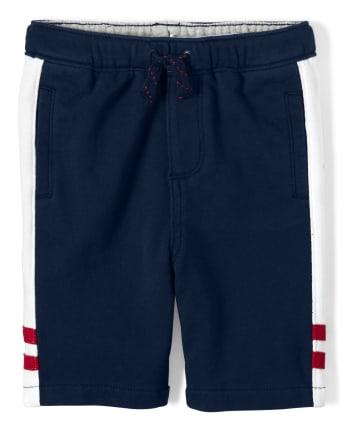 Boys Side Stripe Pull On Shorts - Ready, Set, Goal