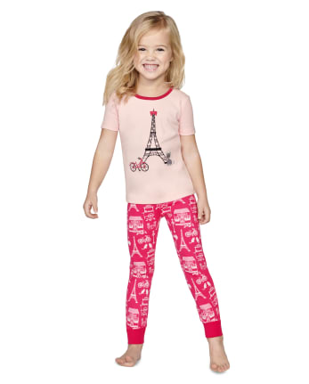 Girls Puuurfect In Paris Cotton 2-Piece Pajamas - Gymmies