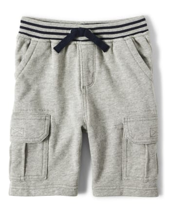 Boys Knit Cargo Shorts