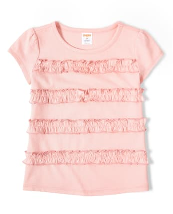 Girls Ruffle Top - Garden Party