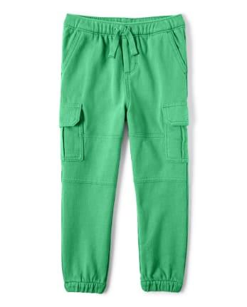 Boys Cargo Jogger Pants - Hello Dino