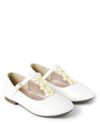 Girls Daisy Ballet Flats - Garden Party